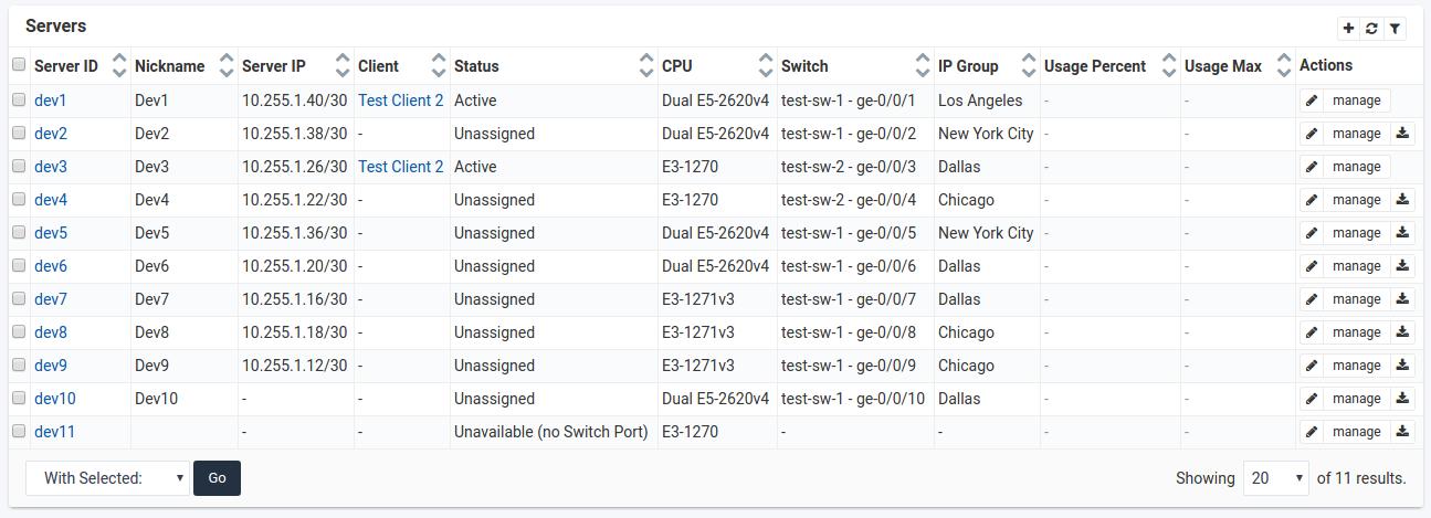 SynergyCP Server Inventory